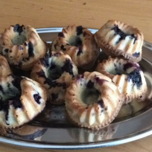 Green Sugar bosbessen cupcake
